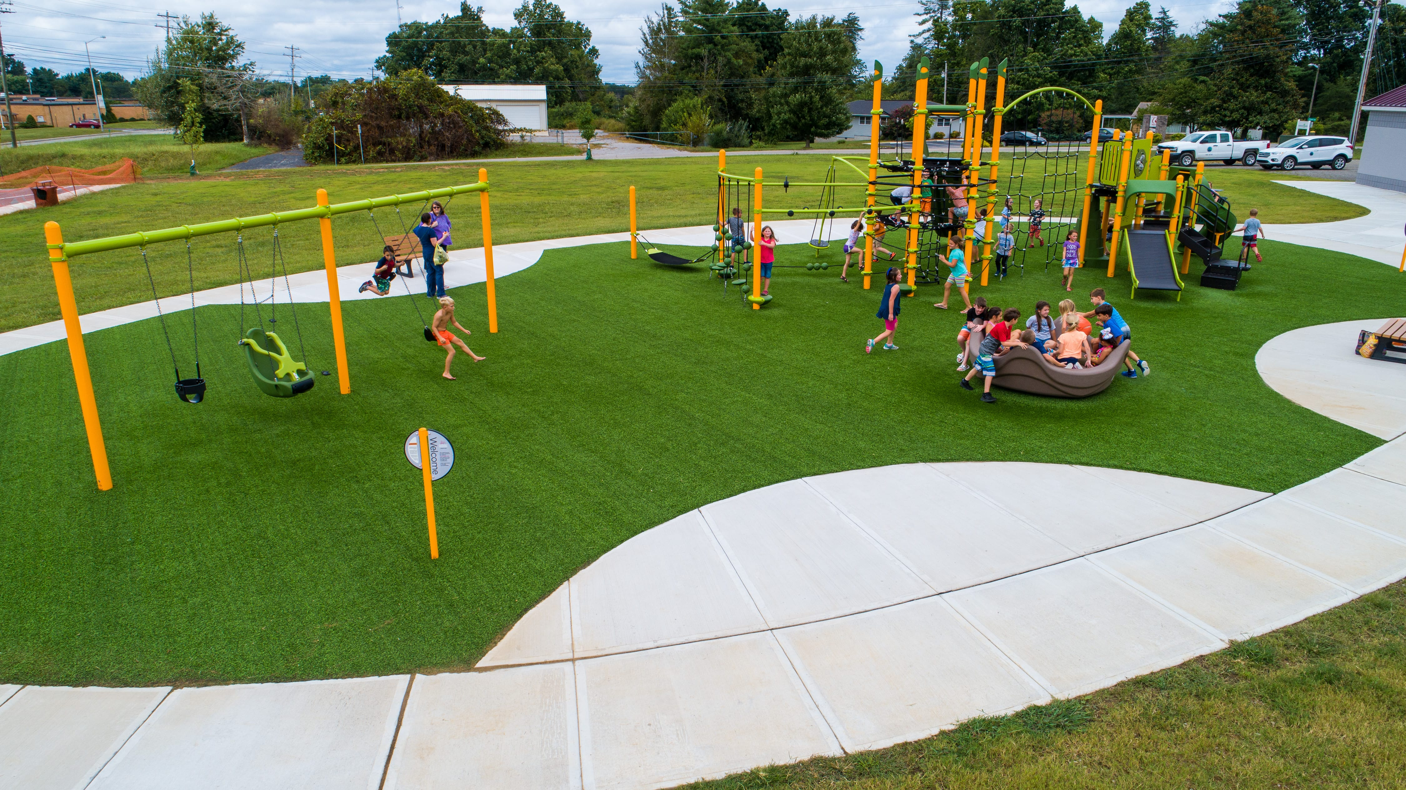 Commercial Playgrounds Choose Artificial Grass Playground Grass