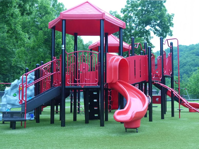 Playground featuring Playground Grass® Ultra by ForeverLawn at Short Line Elementary School