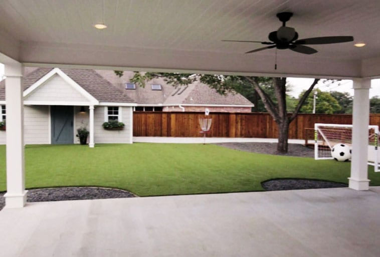Copp Family Backyard with Playground Grass