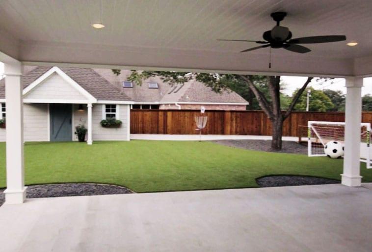 Copp Family Backyard with Playground Grass