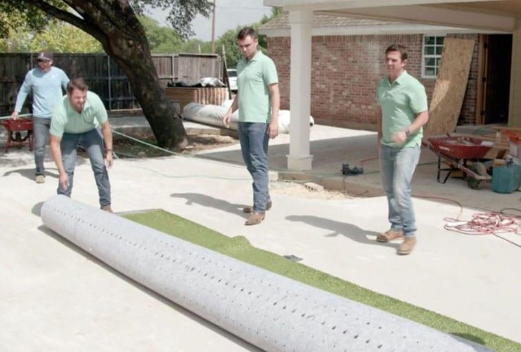 ForeverLawn Wichita Falls installing Playground Grass