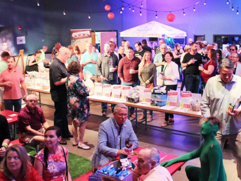 Arts on Tap fundraising event in Fort Myers, Florida, featuring artificial grass by ForeverLawn