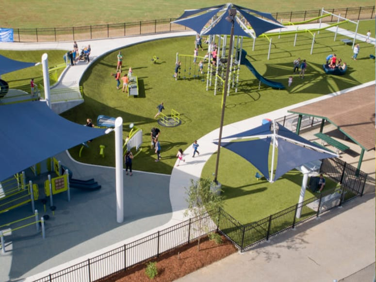 Mary's Magical Place featuring Playground Grass® Ultra installed by Foreverlawn Tennessee
