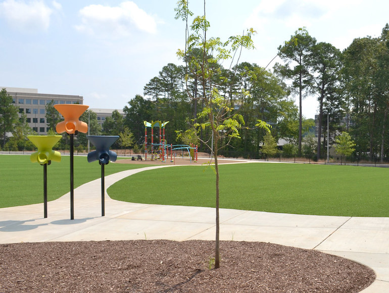 Stough Elementary Playground featuring Playground Grass synthetic turf by ForeverLawn