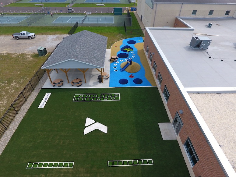 Lake YMCA featuring ForeverLawn synthetic grass installed by ForeverLawn NEO